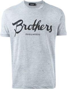 DSQUARED2 Brothers Print T-Shirt. #dsquared2 #cloth #t-shirt