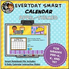 Use this SMART calendar in any Preschool, Kindergarten, or First Grade Class to start your day with routine, learning, technology and fun!*Created with SMART Notebook and intended for use with SMART Boards. File may not be compatible with other types of software.