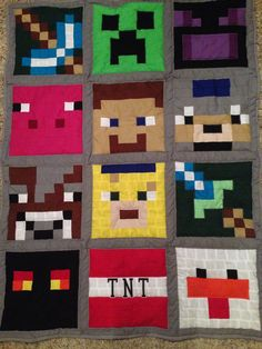 Jaxson's Minecraft quilt