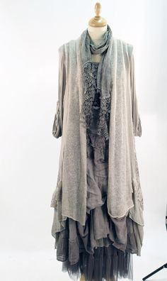 Lagenlook 5 Piece Handpicked Layered Outfit ALL Made IN Italy Size 12 TO 16   eBay
