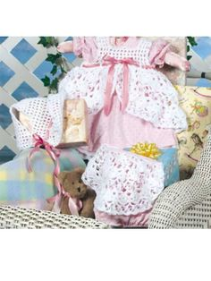 Crochet for Babies & Children - Accessories to Crochet for Kids - Dainty Pinafore and Hat