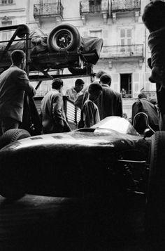 Ferrari Unloading, Monaco (1962)