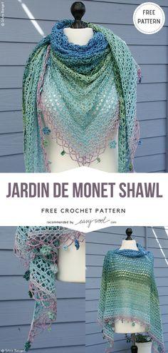 Jardin de Monet Shawl – Free Crochet Pattern | EASYWOOL
