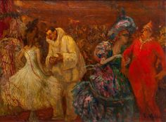 En el baile (1917), óleo sobre lienzo, 50x64 cm, Fundación Museo Evaristo Valle (Gijón).
