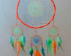 Orange Boho Handmade Dreamcatcher