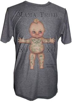Men's Mama Tried by Andre Perales Tattoo Heathered Tee Charcoal Black Market-Lowbrow, http://www.amazon.com/dp/B004BO9MBO/ref=cm_sw_r_pi_dp_VhGqqb0SZ8C5B