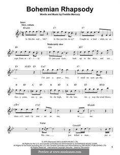 Bohemian Rhapsody Chords Bohemian Rhapsody Queen Piano Vocal Guitar Right Hand Melody. Alto Sax Sheet Music, Saxophone Music, Sheet Music Notes, Piano Sheet Music, Digital Sheet Music, Free Guitar Sheet Music, Soprano Saxophone, Solo Music, Ukulele Tabs Songs