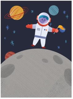 Let's go to outer space! Plan an out of this world party with this animated Evite invitation, which features a space man jumping around on the moon.