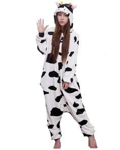 2de0e7a0d1 SAMGU Cow Comfortable plush Unisex Adult Pajamas Kigurumi Cosplay Costume  Animal Onesie Sleepwear Suit  Amazon.co.uk  Clothing