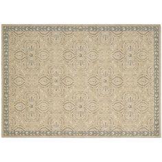 Nourison Riviera Ornamental Framed Wool Rug,