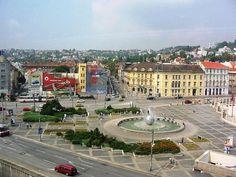 Mierové Námestie, Bratislava - April 1992 Bratislava, Paris Skyline, Dolores Park, Travel, Viajes, Destinations, Traveling, Trips