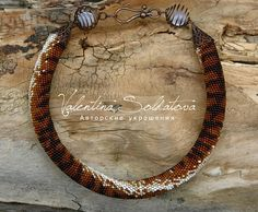 Tiger Bead crochet for beading necklace animal skin bead necklace animals beading Gift brave girl necklace like skin Bead like skin Tiger