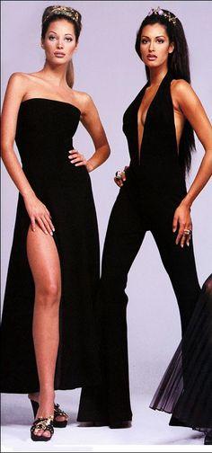 Christy Turlington & Yasmeen. Gianni Versace,  1992