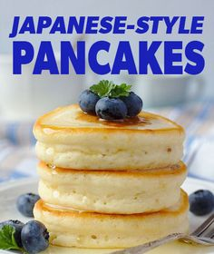 What's difference about these hot cakes? Well, they are similar to American pancakes, but are a bit fluffier and have a little more sweetness. The eggs are beaten in a hand or stand mixer until foamy to create an extraordinary fluffy texture. Breakfast Dishes, Breakfast Recipes, Breakfast Pancakes, Pancake Recipes, Fodmap Breakfast, Avacado Breakfast, Breakfast Healthy, Sweet Breakfast, Breakfast Dessert