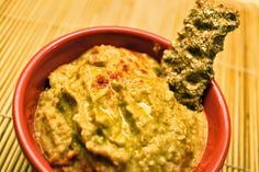 Receta de hummus de lentejas. Comida vegetariana.
