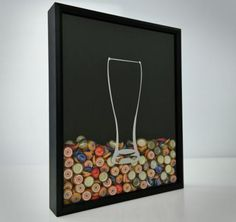 Beer Cap Collector Shadow Box