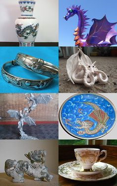 """Here There Be Dragons"" Curated by Dianne @ https://www.etsy.com/shop/ADragonflysFancy Featuring my Vintage Tibet Silver Dragon Phoenix sun semi adjustable bracelet bangle @ https://www.etsy.com/listing/164109112/one-vintage-tibet-silver-dragon-phoenix?ref=tre-2725222248-3"