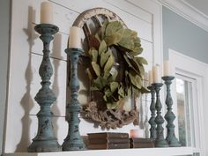 mantle accessories - from Fixer Upper on HGTV
