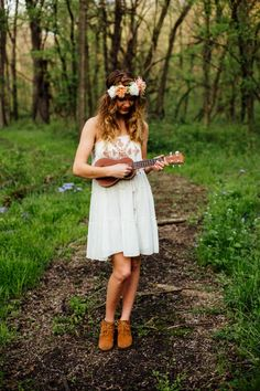 Senior Pictures with ukulele