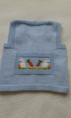 Embroidered Baby Vest Making - Knitting Baby Knitting Patterns, Crochet Baby Dress Pattern, Baby Dress Patterns, Knitting For Kids, Knitting For Beginners, Knitting Designs, Free Knitting, Knit Crochet, Crochet Patterns