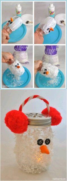 Diy vela snow man