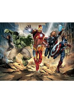 Avengers Wall Mural at Children's Rooms