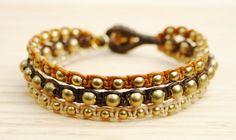 Brown Spheres Bracelet White Agate - Red Jasper Bracelet Turquoise Bracelet #jewellery #handmade #boho #hippie #fashion #summer #oriental #gemstones #powerstones #bracelet #brass