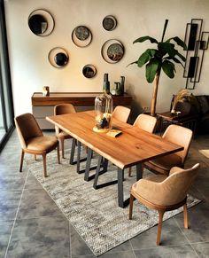 Loft yemek masası #fuga #furniture #gaziantep #istanbul #turkey #fugamobilya #architecture #interiordesign #decoration #modern #housedesign #homedecor #lightingdesign #interior #design #decor by fugamobilyagaziantep