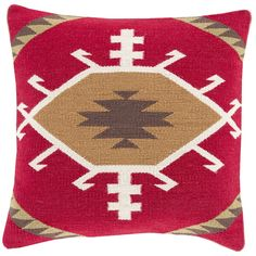 Taken with Tribal Cherry/Gold Pillow