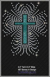 Cross Rhinestone Pattern 3 — RhinestonePatterns.com