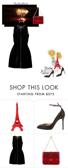 """""""Holiday Sparkle With The RealReal: Contest Entry"""" by theitalianglam ❤ liked on Polyvore featuring Merci Gustave!, Valentino, Alaïa, women's clothing, women's fashion, women, female, woman, misses and juniors"""