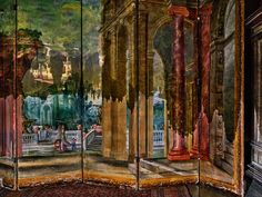 Abelardo Morell Camera Obscura: View of Gardens on Folding Screen, Villa La Pietra, Florence, Italy, 2017 Color photograph Edition of 10 in 30 x 40 inches Edition of 10 in 45 x 60 inches Edition of 5 in 60 x 75 inches Signed and numbered Verona, Camera Obscura, Krakow, Photography Projects, One Pic, Gallery, Villa, Gardens, Artist