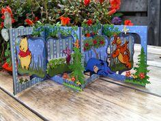 Monique's weblog: Pooh accordion flip kaart Magnolia DooHickey's Cutting Dies - Fruit Tree, CottageCutz Ivy,CottageCutz Rustic Sign&Trees, Cricut Winnie The Pooh