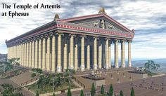 Reconstrucción del Artemision, Éfeso. Templo jónico arcaico.