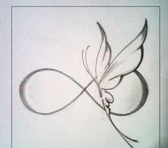 New tattoo designs drawings inspiration tatoo ideas Infinity Tattoos, Wrist Tattoos, Foot Tattoos, Body Art Tattoos, Small Tattoos, Infinity Butterfly Tattoo, Infinity Tattoo Designs, Tattoo Neck, Butterfly Tattoos