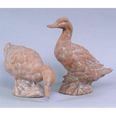 AA Importing Terra Cotta Duck Sculpture - Set of 2 - 7790