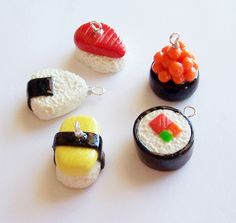 Sushi Charms by SeaOfCreations on DeviantArt