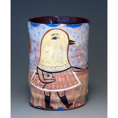 Decorative Cup  Chicks  Original Jenny Mendes  Hot by jennymendes, $70.00