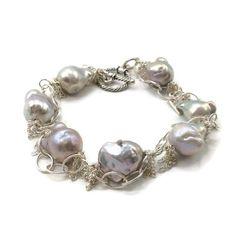 Fringed Pearl Bracelet  By Courtney Andrea Fox & Van Der Muffin's Jewels  #oneofakind #elegantjewelry #hamptonsjewelry #handmadejewelry #bohemianstyle #uniquejewelry #gemstonejewelry #finejewelry #gemstones #pearljewellery
