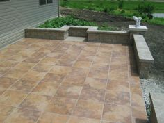Marvelous Ceramic Patio Tile Decorating Ideas Beauty Patio Tile Art Decorating Picture