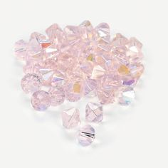 Light Pink AB Crystal Bicone Beads - 8mm - OrientalTrading.com Vent