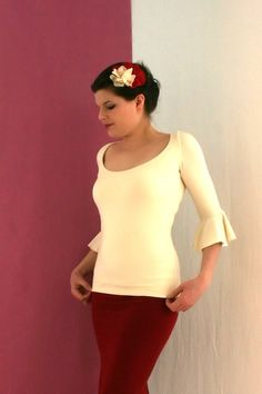 Flutter Top in Bamboo - Made To Measure $68