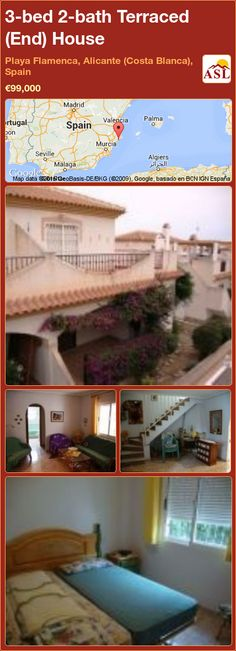 Terraced (End) House for Sale in Playa Flamenca, Alicante (Costa Blanca), Spain with 3 bedrooms, 2 bathrooms - A Spanish Life Apartments For Sale, Murcia, Alicante, Valencia, Portugal, House 2, Quad, Terrace