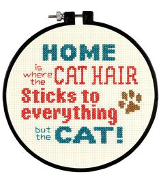 Stitch Wits Pet Hair Mini Counted Cross Stitch Round 14 Count - Overstock™ Shopping - Big Discounts on Dimensions Cross Stitch Kits Cute Cross Stitch, Counted Cross Stitch Patterns, Cross Stitch Designs, Cross Stitch Embroidery, Embroidery Patterns, Hand Embroidery, Hama Mini, Geeks, Cross Stitching