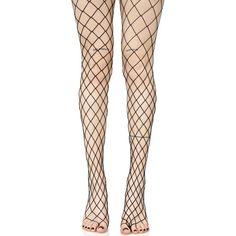 Diamond Doll Fishnet Stockings ($10) ❤ liked on Polyvore featuring intimates, hosiery, tights, leg avenue stockings, gothic stockings, diamond tights, leg avenue pantyhose and leg avenue hosiery
