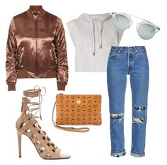 """""""Brownie sparkle"""" by dimitrakar on Polyvore featuring Topshop, adidas, Bliss and Mischief, MCM, Aquazzura and Christian Dior"""