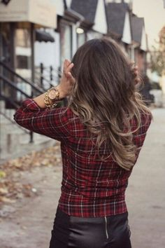 Brunette ombre! Add some blonde to your hair while being low maintenance and subtle