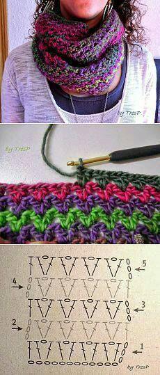 Tutorial cuello crochet
