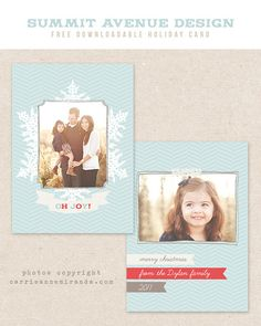 It's here! our December freebie is this adorable Christmas card template. It is a 5x7 flat card design and is compatible with Photoshop