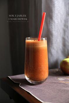 Świeżo wyciskany sok z jabłek i marchewek na przeziębienie #mojadelicja //A Fruity Aid against Colds: Apple & Carrot Juice #food #smoothie #Cold #Apple #Carrot #juice